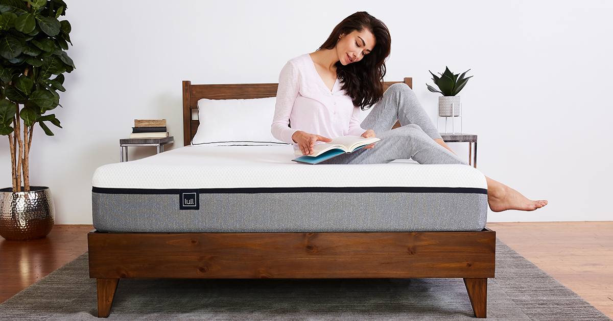 Picture of: The Lull Wood Platform Bed Frame Slats Easy Assembly